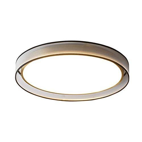HSCW Luz de techo LED de montaje empotrado de 36 W, lámpara de techo moderna de CM55 CM, luces principales de iluminación de techo regulable LED, pasillo redondo Comedor Cocina Sala de estar Dormitori