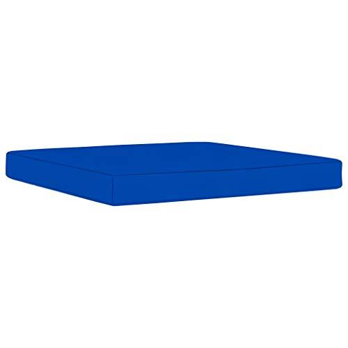 vidaXL Cojín para Otomana de Palets Reposapiés Taburete Asiento Silla Jardín Patio Terraza Balcón Exterior Hogar Grueso Acolchado Tela Azul