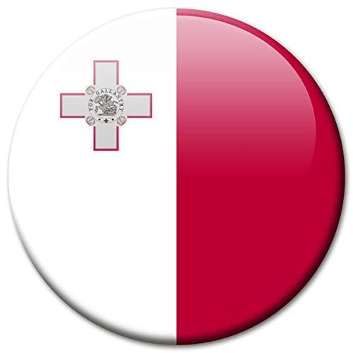 Kühlschrankmagnet Flagge Malta Magnet Länder Flaggen Reise Souvenir für Kühlschrank stark groß 50 mm