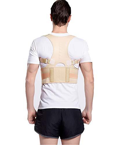 HONGBI Corrector de Postura, Corrector y Soporte para Columna Vertebral,Enderezador de Espalda Transpirable Alivia Dolor en Cuello, Espalda y Hombros Color de Piel L