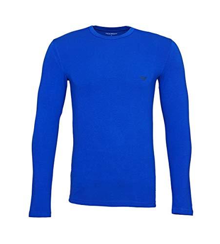 Emporio Armani Longsleeve Rundhals Shirt 111023 8A725 23233 Mazarine WX18-EAL Größe L