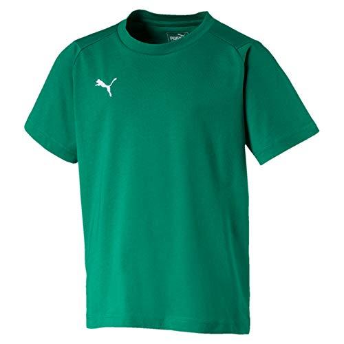 Puma Liga Casuals Tee Jr, Maglietta Unisex Bambini, Verde (Pepper Green White), 152