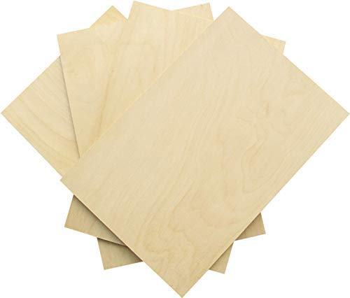 5 mm 1/5'x 12'x 18' Premium Russian Birch Craft Plywood B/BB Grade 4 Flat Sheets for Laser...