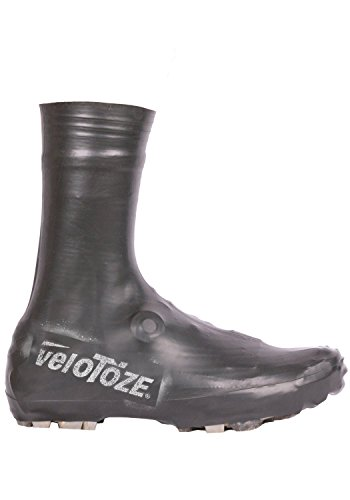 VELOTOZE STRONG alta couvres zapatos latex-vtt Mixta, Negro, L (43/46)