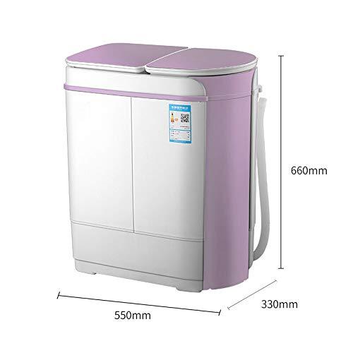 Wasmachine 3,5 kg semi-automatische mini-roestvrij stalen cilinder dehydratatie bij zuigelingen en kinderen onder ozonserie: 2,5 kg nieuwe Blu-ray-upgrade
