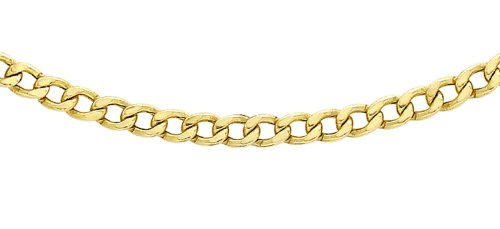 Carissima Gold Women's 9 ct Yellow Gold Hollow 2.2 mm Curb Chain Necklace of Length 61 cm/24 Inch