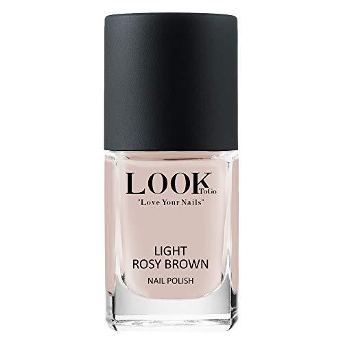 Look to go Nagellack NP 011 Light Rosy Brown 12ml I Zeitlos & Stilvoll – ein zarter Nude-Ton I vegan & 13-free I Made in Germany