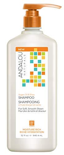 Andalou Naturals Argan Oil and Shea Moisture Rich Shampoo, Value Size, 32 Ounce