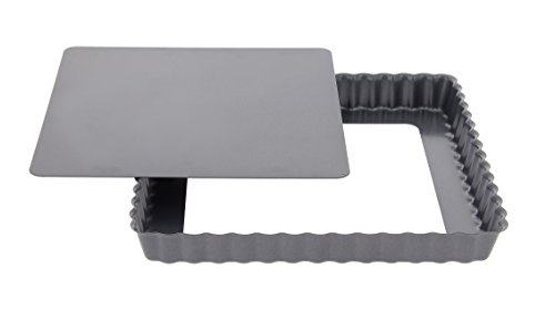 De Buyer 4709.23 Tarteform, quadratisch, abnehmbare Bodenplatte, 23 cm
