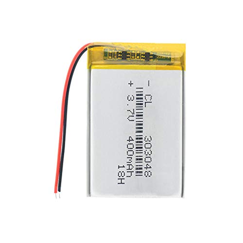 Dilezhiwanjuwu Nuevo Mini Li-Polymer 1pcs 400mAh Battery 3.7V 303048 Litio Li Ion Ion Battería Control Remoto E-Book Router Camera Bateria