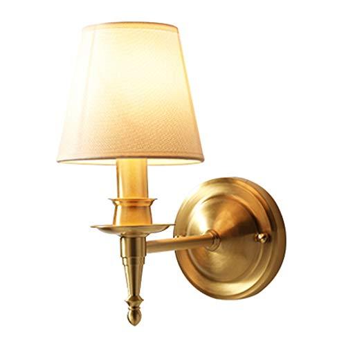 Lámpara de pared Lámpara de pared del hogar de la lámpara de pared de cobre total y decoración de la lámpara de noche dormitorio cocina sencillas herramientas sala de estar y la decoración del hogar L