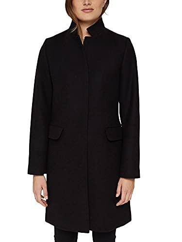 Esprit 081EE1G388 Chaqueta, 001/negro, S para Mujer