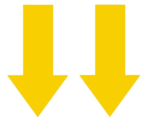 2x Abschlepphaken Pfeil Neon fluoreszierend gelb passend für Rally, Viper 4 cm x 8 cm