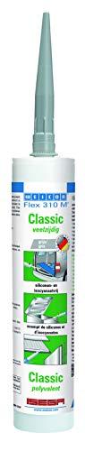 WEICON Flex 310 M Classic gris 310 ml – Sellador elástico adhesivo de 1 componente