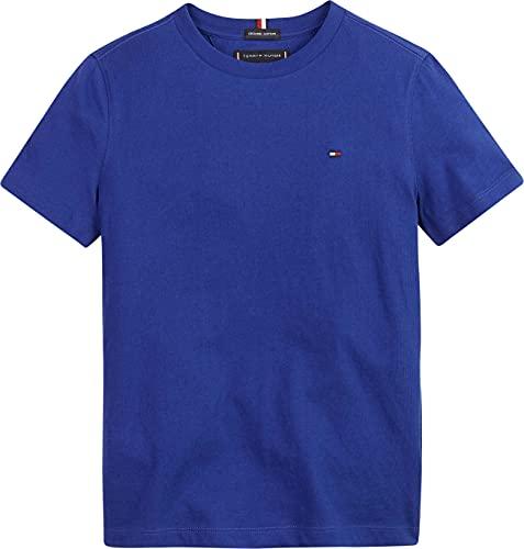 Tommy Hilfiger Essential CTTN tee S/S Camiseta, Regal Navy, 7 Años para...