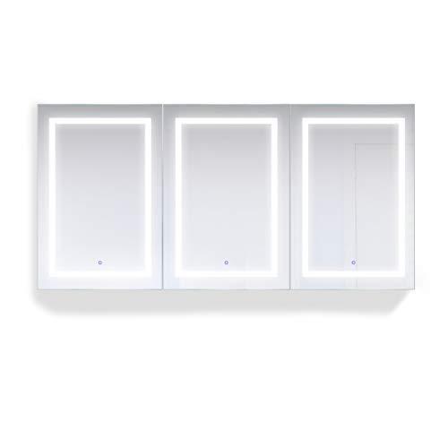 Krugg LED Medicine Cabinet 72 Inch X 36 Inch | Recessed or -