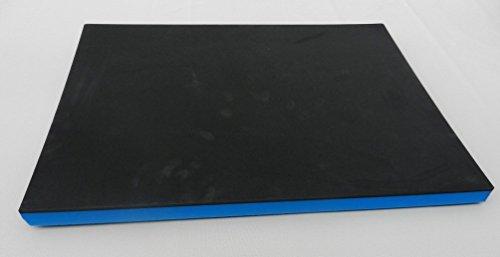 (65 €/m²) Werkzeugeinlage, ca. 600 x 800 x 30 mm Hartschaumstoff Systemeinlage Schaumeinlage für Werkzeugwagen, schwarz/blau, Top Industriequalität