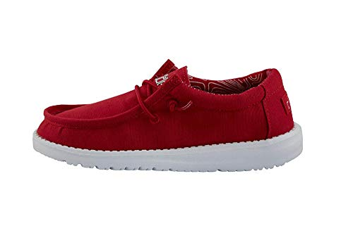 Hey Dude Wally Youth Shoes (13, Red)