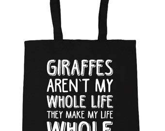 Hippowarehouse Giraffen Nicht My Whole Life Sie Make My Life Ganze - Bolso para la compra, gimnasio, playa, 42 unidades