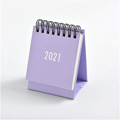 CALENDAR 2017 Calendarios 2021 Calendario 2021 Serie Simple Calendario de Escritorio Dual Daily Programar Tabla Planificador Agenda Anuario Organizador Oficina Regalos ZSMFCD (Color : Purple)