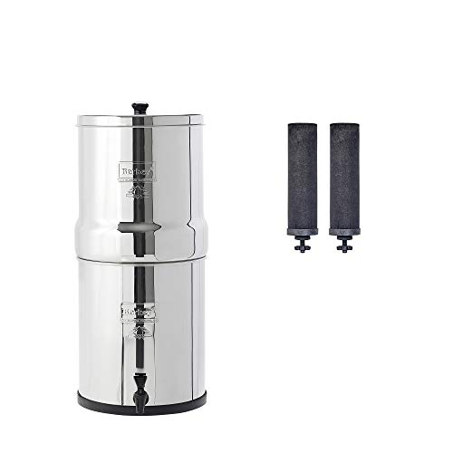 Berkey BK4X2-BB Big Berkey Stainless Steel Water Filtration System with 2 Black Filter Elements by Berkey