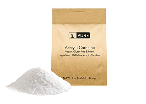 Pure Acetyl L-Carnitine Powder (4 oz) Vegan, Non-GMO & Gluten-Free, Eco-Friendly Packaging