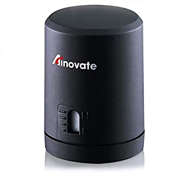 Wine Vacuum Stopper, Wine Saver Vacuum Pump and Wine Bottle Stopper with Date Marker to Remove Air and Vacuum Seal Opened Wine Bottle for 7-10 Days by Ainovate- Wine Gift for Wine Lovers