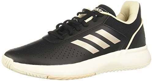 Adidas COURTSMASH, Zapatos de Tenis Mujer, Core Black/Platin Met./Linen, 39 1/3 EU