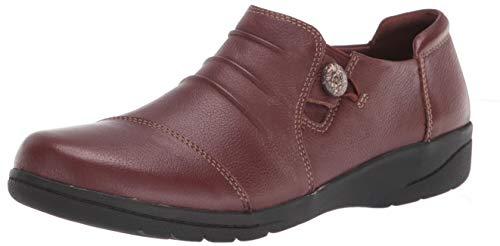 Clarks Women's Cheyn Inca Loafer, Mahogany Leather, 11