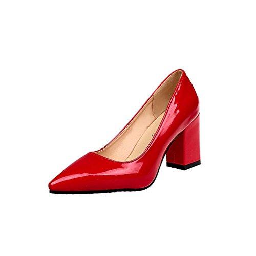 clasificación y comparación Oferta de lanzamiento de Mason!  Zapatos de moda con tacones cuadrados para mujer … para casa