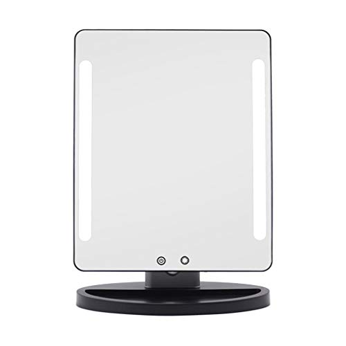 SZPZC Magnifying Tool Makeup Mirror Magnifying Glass 22-inch Makeup Mirror with Light Explosion-Proof Glass Mirror Makeup Mirror Silver Microscope