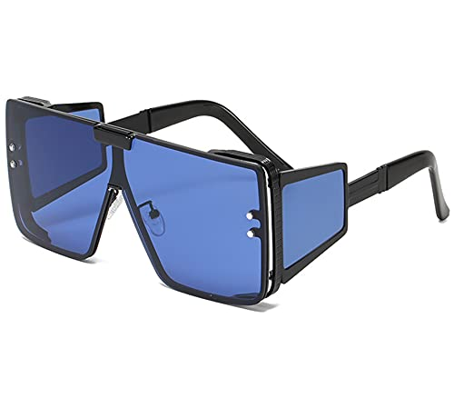 AILINSHA Gafas polarizadas de Gafas para Hombres Mujeres para Gafas Deportivas Marco de Moda Gafas de Sol Ciclismo de Hombre Ciclismo Cuadrado Espejo Blue