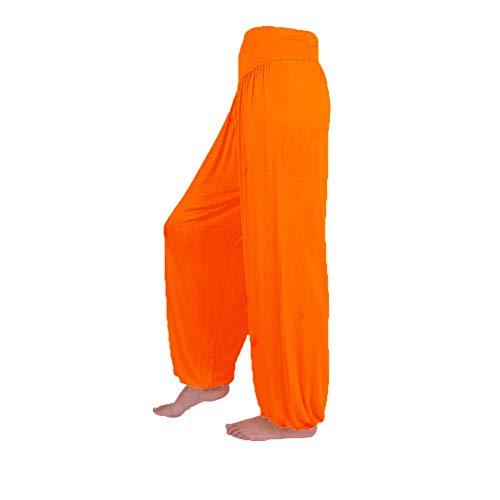 FEYTUO Pantalones de Yoga Mujer,Pantalón Liso de Mujer Color Liso y Color Liso Pantalones de Yoga Mujer Leggins Pantalones De HaréN De La India Danza Pantalones De Yoga Pantalones Hippie Boho Mujeres