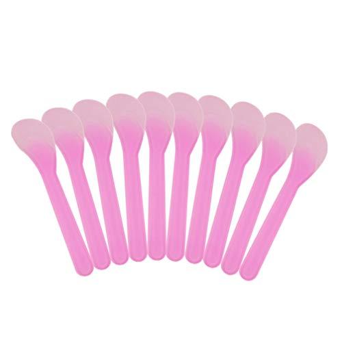 Healifty 100pcs maquillage jetable pointe dépolie spatule en plastique masque cosmétique crème spatule grattoir pour les femmes