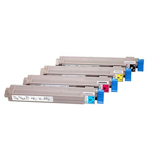 YBCD Cartucho de tóner C9655, Compatible con la Impresora láser Color Oki C9655, 43837132 43837131 43837130 43837129 Los Colores Impresos claros y vívidos-All