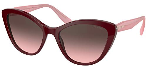 Miu Miu Occhiali da Sole SMU 05X Burgundy Pink/Grey Pink Shaded 55/18/140 donna