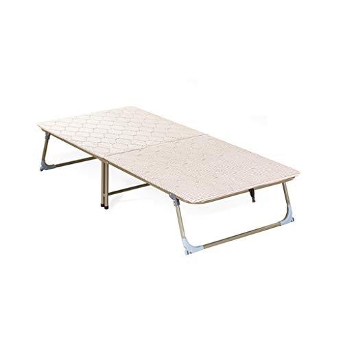Klappstühle Falten Blätter Mann Hartholz Bett dünne Schwamm Pad Mittagspause Büro Nap Bett Licht freie Installation, leichte Bewegung, einfache Faltung (größe : 185 * 70cm)
