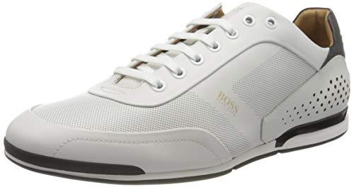 BOSS Herren Saturn_Lowp_ltpf Sneaker, White100, 46 EU