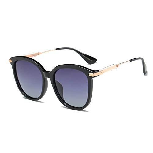 WOYBAOF Personalidad Ojos de Gato Gafas de Sol de señora Lentes polarizadas Protección TR90 UV Completa para Conducir Diseño clásico de Alta Gama de Moda (Color : Gris)