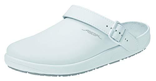 Abeba Clog 9200 - rubber Glattleder weiß, zertifiziert, 40