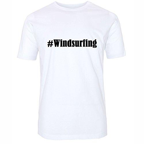Reifen-Markt Camiseta #Windsurf Hashtag para mujer y hombre en blanco y negro