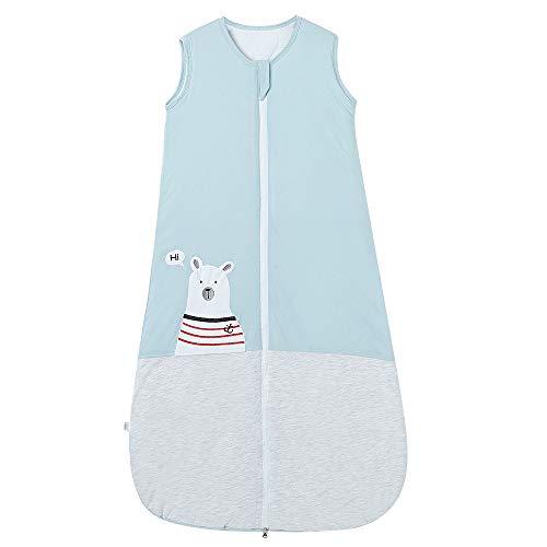 Saco de dormir para bebé, invierno, con mangas, 2,5 tog, para niños de 0 a 10 años, (130 cm/3 a 6 años), color azul y gris