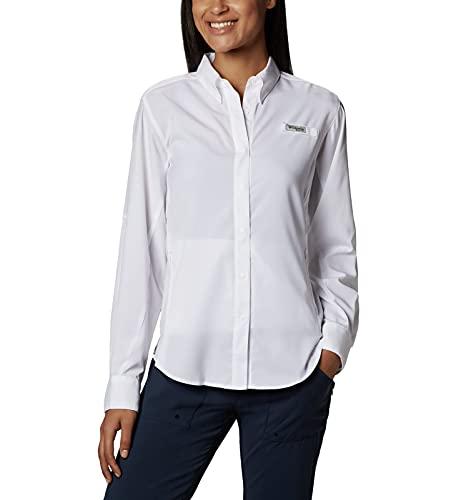 Columbia Women's PFG Tamiami II Long Sleeve Shirt, White, Medium