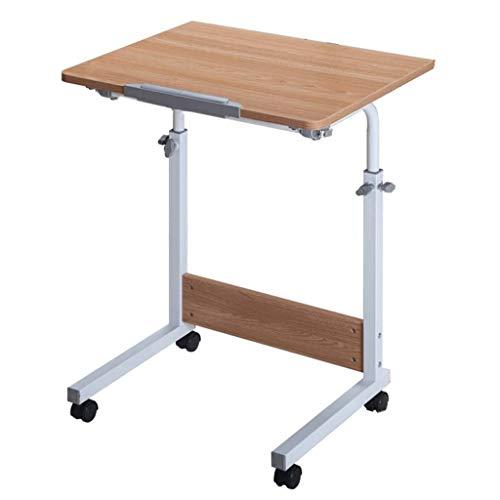 ZXL Laptopbureau, verstelbare eenvoudige vouwen Household Student Learn It Can Move Bed tafel (kleur: Teak kleur, grootte: 80cm * 50cm)