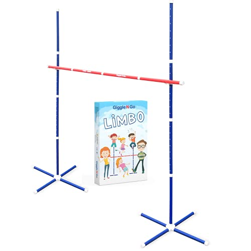 Giggle N Go Limbo Outdoor Games for Adults and Family - Limbo Game for Kids Party Games, Backyard Games, Lawn Games or Outdoor Games for Kids. Ideal Yard Games for Adults and Family for All Ages