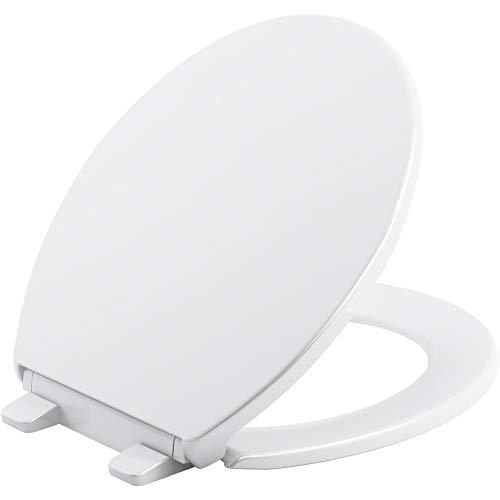 Kohler 20111-0 Brevia Toilet Seat, White,16.6-in L x 18.1-in W x 1.38-in H