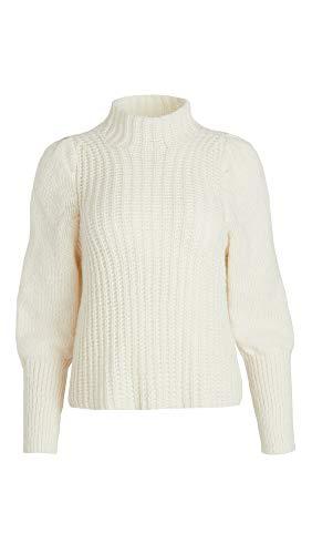 Line & Dot Women's Elizabeth Sweater, Ivory, Off White, X-Small