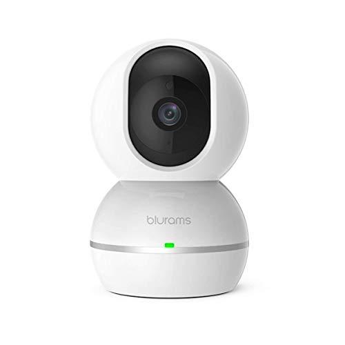 Blurams Snowman 1080p FHD Cámara de Vigilancia en Domo para el Hogar-WiFi Bidirecional DET. Inteligente Movimiento/Sonidos Alertas Tiempo Real Visión Panorámica - Modo Crucero 360º(iOS & Android)