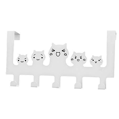 appendiabiti gatto Tianhaik Scaffale portaoggetti in Acciaio Inox con Gancio Porta Appendiabiti Simpatico Gancio per Gatti con Gancio Porta Organizer (Color : Cat)