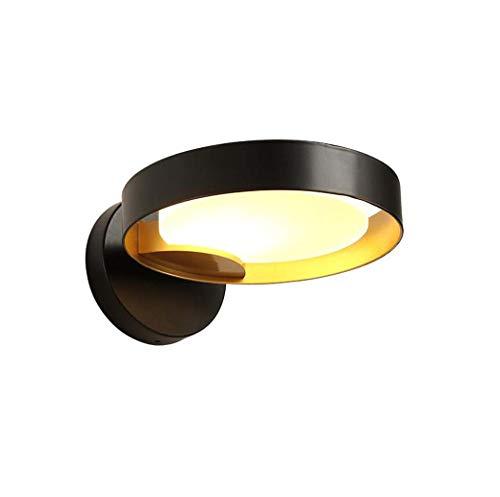 LED wandlamp Scandinavische wandlamp gemaakt van smeedijzer creatief met acrylscherm, bedlampje slaapkamer woonkamer traplamp kunst wandlamp